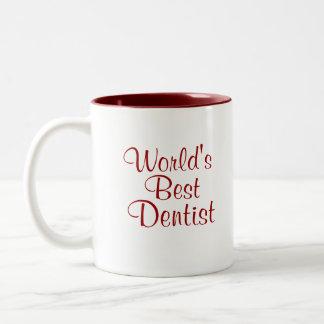 Worlds Best Dentist Two-Tone Coffee Mug