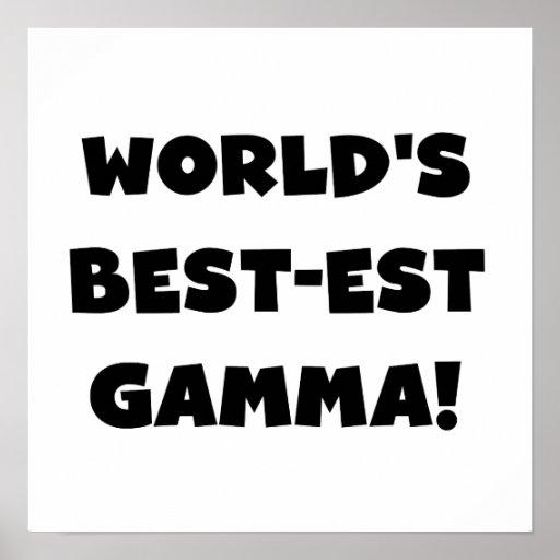 World's Best-est Gamma Black and White Print