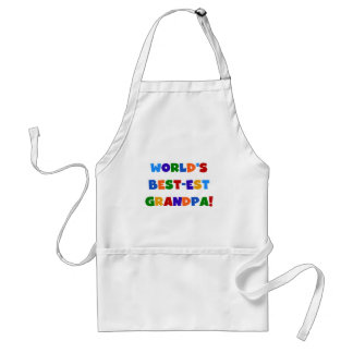 World's Best-est Grandpa Bright Colors Gifts Standard Apron