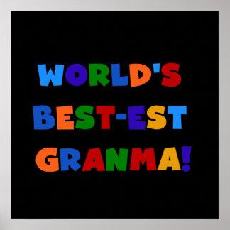 World's Best-est Granma Bright Colors Poster