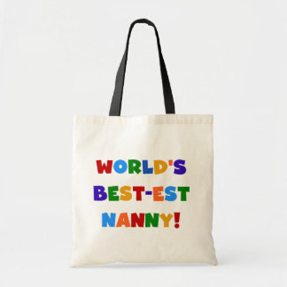 World's Best-est Nanny Bright Colours Gifts Tote Bag