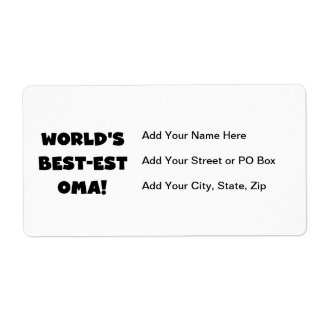 World's Best-est Oma Black or White Gifts