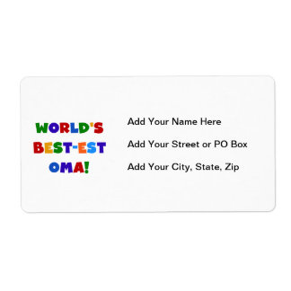 World's Best-est Oma Bright Colors Gifts