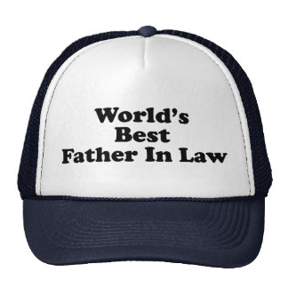 World's Best Father In Law Cap