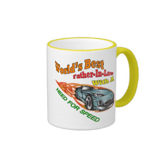 World's Best Father-in-law  Father's Day Gift Ringer Mug