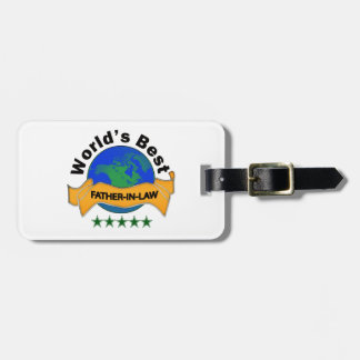 World's Best Father-In-Law Luggage Tag