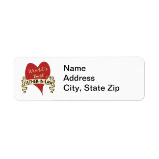 World's Best Father-In-Law Return Address Label
