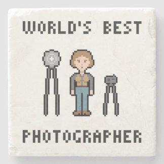 World's Best Female Photographer Stone Beverage Coaster