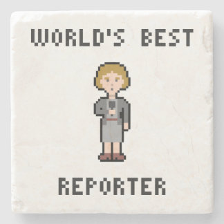 World's Best Female Reporter Stone Coaster