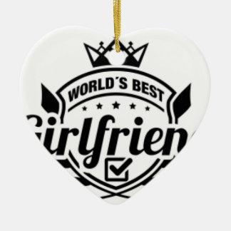 WORLDS BEST GIRLFRIEND CHRISTMAS ORNAMENT