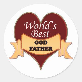 World's Best Godfather Classic Round Sticker
