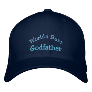 Worlds Best, Godfather-Embroidered Hat Embroidered Cap