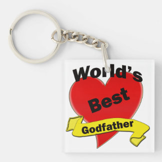 World's Best Godfather Key Ring