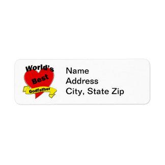 World's Best Godfather Return Address Label