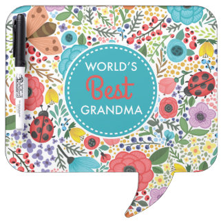 World's Best Grandma Dry Erase Board