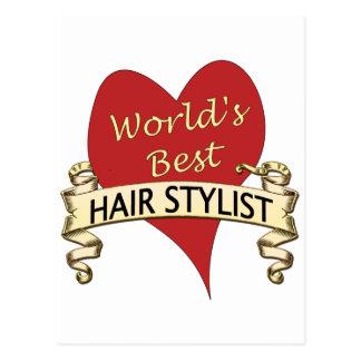 World's Best Hairstylist Postcard