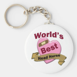 World's Best Head Nurse Basic Round Button Key Ring