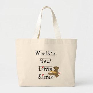 World's Best Little Sister Large Tote Bag