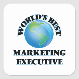 World's Best Marketing Executive Square Stickers