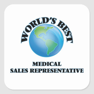World's Best Medical Sales Representative Square Stickers