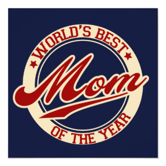 World's Best Mom of the Year Custom Announcements
