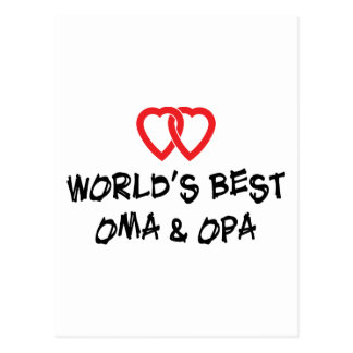 World's Best Oma & Opa Gift Postcard