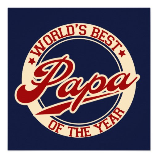 World's Best Papa Custom Invitations