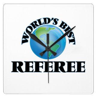 World's Best Referee Square Wall Clocks