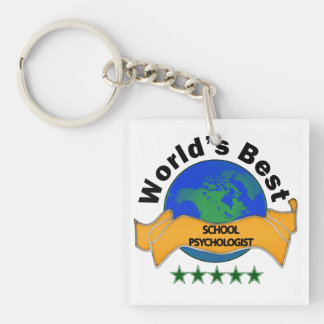World's Best School Psychologist Key Ring