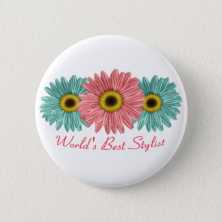 World's Best Stylist 6 Cm Round Badge