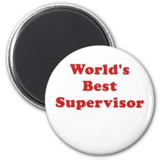 Worlds Best Supervisor 6 Cm Round Magnet