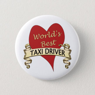 World's Best Taxi Driver 6 Cm Round Badge