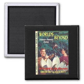Worlds Beyond v01 n02 (1951-01.Hillman)_Pulp Art Square Magnet