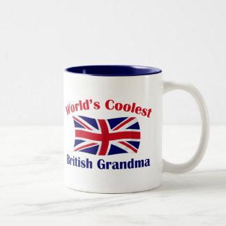 World's Coolest British Grandma Two-Tone Coffee Mug