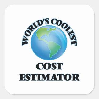 World's coolest Cost Estimator Square Sticker