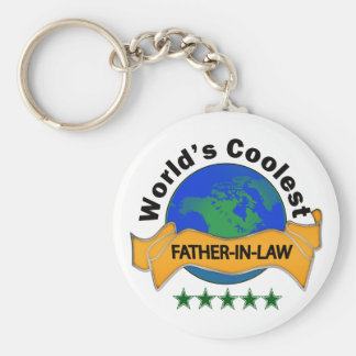 World's Coolest Father-In-Law Key Ring