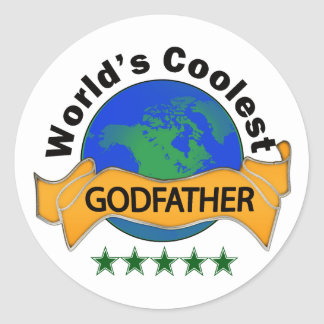 World's Coolest Godfather Classic Round Sticker