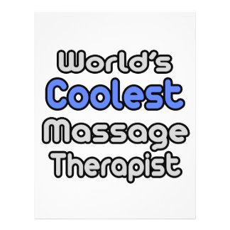 World's Coolest Massage Therapist 21.5 Cm X 28 Cm Flyer