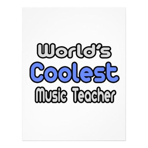 World's Coolest Music Teacher Flyers