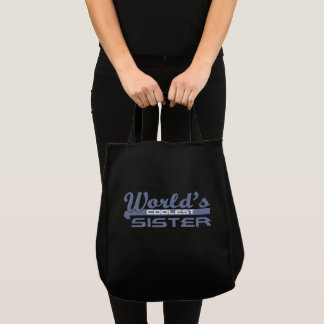 Worlds Coolest Sister Tote Bag