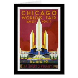 """World's Fair, Chicago, 1933"" Vintage Card"