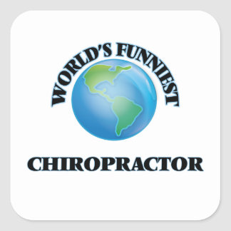 World's Funniest Chiropractor Square Stickers