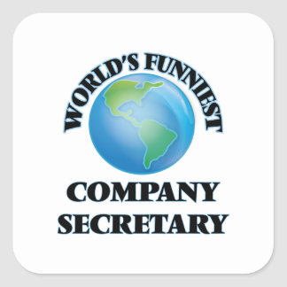 World's Funniest Company Secretary Square Sticker