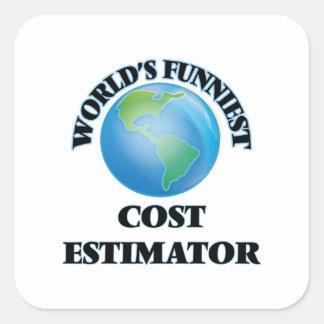 World's Funniest Cost Estimator Square Sticker