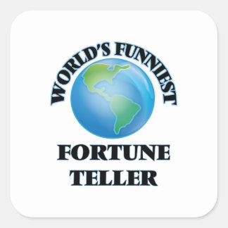 World's Funniest Fortune Teller Square Sticker