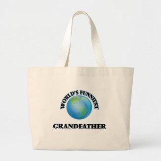 World's Funniest Grandfather Jumbo Tote Bag