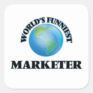 World's Funniest Marketer Square Sticker