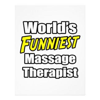 World's Funniest Massage Therapist 21.5 Cm X 28 Cm Flyer