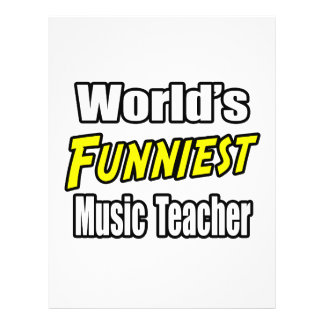 World's Funniest Music Teacher 21.5 Cm X 28 Cm Flyer