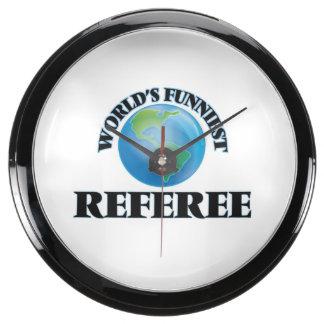 World's Funniest Referee Fish Tank Clock